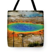 Grand Prismatic Spring No Border Tote Bag by Greg Norrell