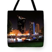 Grand Rapids Michigan At Dusk Tote Bag