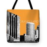 Grand Rapids Skyline - Orange Tote Bag