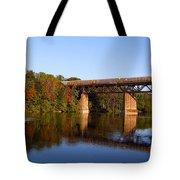 Grand River Autumn Freight Train Tote Bag