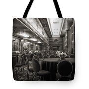 Grand Salon 05 Queen Mary Ocean Liner Bw Tote Bag