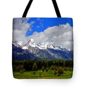 Grand Teton Mountains Tote Bag