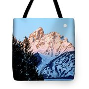Grand Teton National Park Moonset Tote Bag