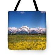 Grand Teton Wildflowers Tote Bag
