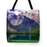 Grand Tetons National Park Painting Tote Bag