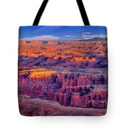 Grand View Point Evening Panorama Tote Bag