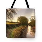Grand Western Canal At Halberton  Tote Bag