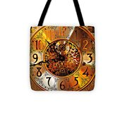 Grandfather Time Hdr Tote Bag
