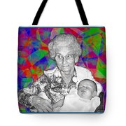 Grandma And Rose Tote Bag
