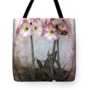 Grandmas Amaryllis Garden Tote Bag