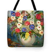 Grandma's Hat And Bouquet Tote Bag