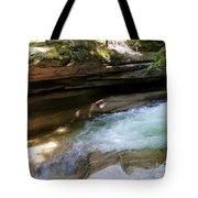 Granite Boulder And Sabbaday Brook Tote Bag