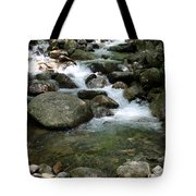 Granite Boulders In A River  Tote Bag
