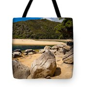 Granite Boulders In Abel Tasman Np New Zealand Tote Bag