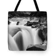 Granite Falls Black And White Tote Bag
