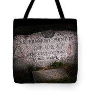Granite Monument Quoddy Head State Park Tote Bag