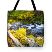Granite Rocks Above The Cascading Feather River, Quincy California Tote Bag