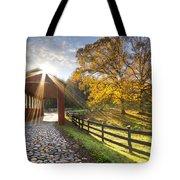 Granny Squirrel Bridge Tote Bag by Debra and Dave Vanderlaan