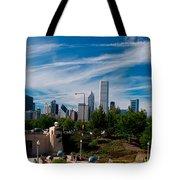 Grant Park Chicago Skyline Panoramic Tote Bag