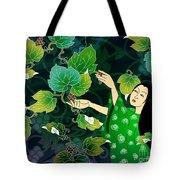 Grape Picking Tote Bag by Bedros Awak