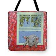 Grapes At The Window Tote Bag