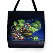 Grapes In A Footed Bowl Tote Bag