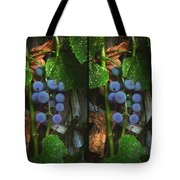 Grapes On The Vine - Gently Cross Your Eyes And Focus On The Middle Image Tote Bag