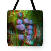 Grapes On The Vine - Use Red-cyan Filtered 3d Glasses Tote Bag
