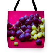 Grapes White And Red Tote Bag