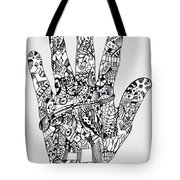 Graphic Hand Tote Bag