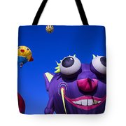Graphic Hot Air Balloons Tote Bag