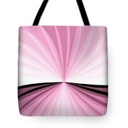 Graphic Pink And White Tote Bag
