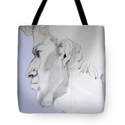 Graphite Portrait Sketch Of A Young Man In Profile Tote Bag