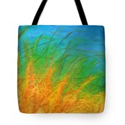 Grass Along The River Tote Bag