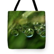 Grass Morning Dew Tote Bag