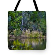 Grass On The Water Tote Bag