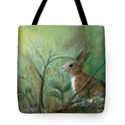 Grass Rabbit Tote Bag