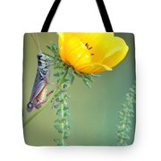 Grasshopper Be Still Tote Bag