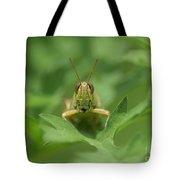 Grasshopper Portrait Tote Bag