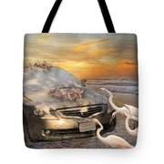 Grateful Friends Curious Egrets Tote Bag by Betsy Knapp