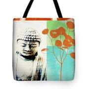 Gratitude Card- Zen Buddha Tote Bag by Linda Woods