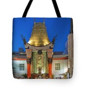 Grauman's Chinese Theater Night Lights  Tote Bag