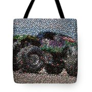Grave Digger Bottle Cap Mosaic Tote Bag by Paul Van Scott