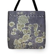 Gravestone With Lichen Tote Bag