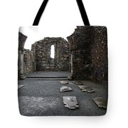 Graveyard In Church Ruin - Ireland Tote Bag