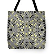 Gray And Yellow No. 1 Tote Bag