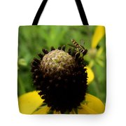 Gray Cone Flower Tote Bag