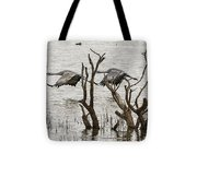 Gray Day At Whitewater Tote Bag