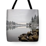 Gray Day In Lake Oswego Tote Bag
