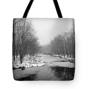 Gray Stream Tote Bag